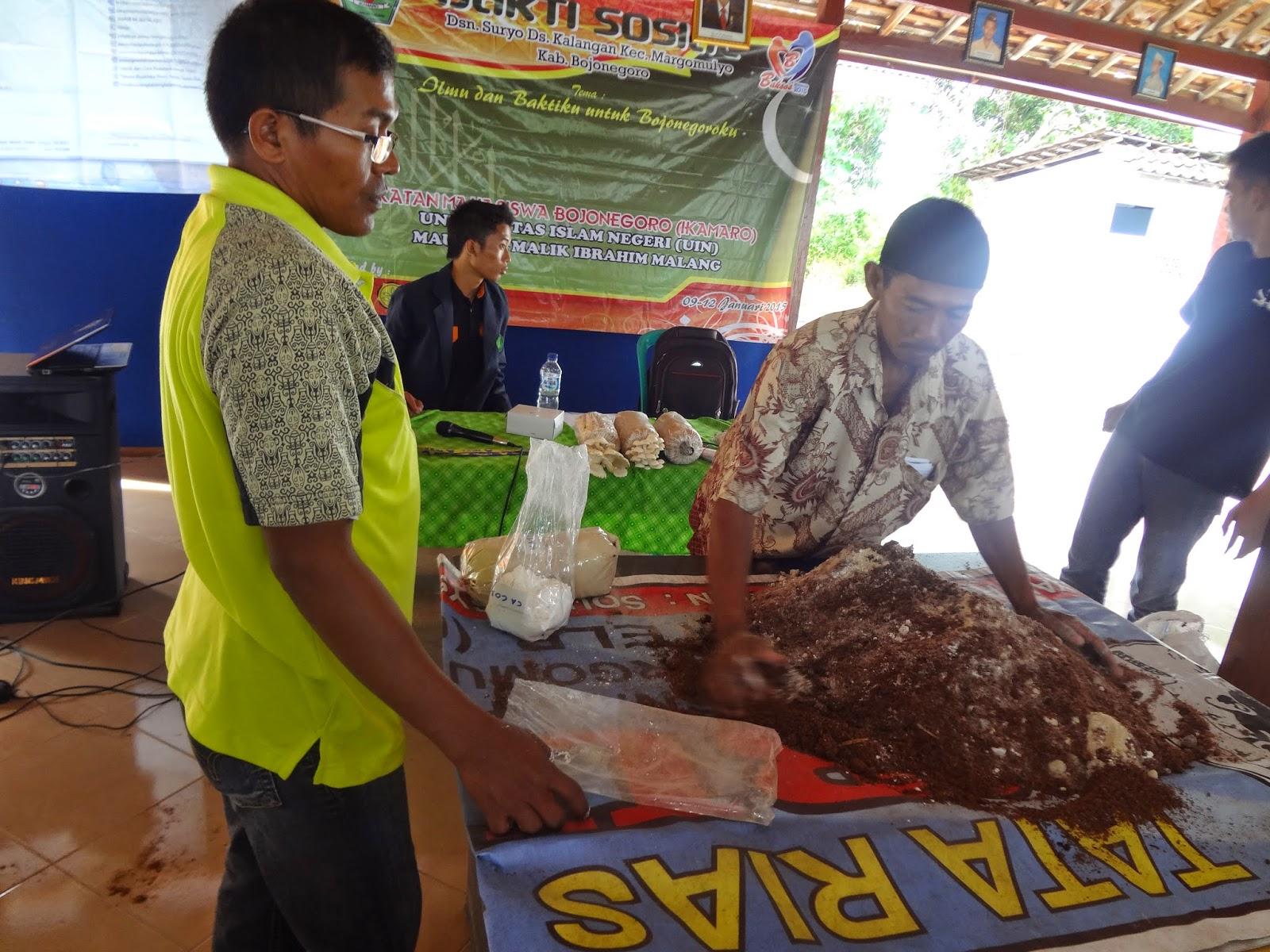 Pelatihan Budidaya Jamur Tiram, Salah Satu wujud Kepedulian IKAMARO Terhadap Ekonomi Kreatif Masyarakat Bojonegoro