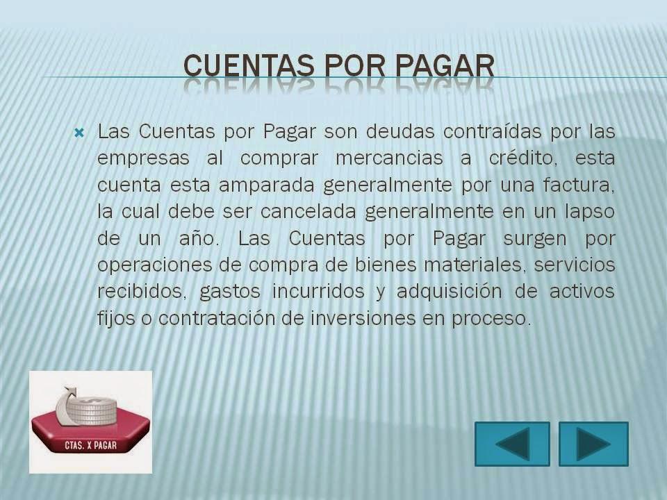 CONTAPOOT: TEMA: CUENTAS POR PAGAR