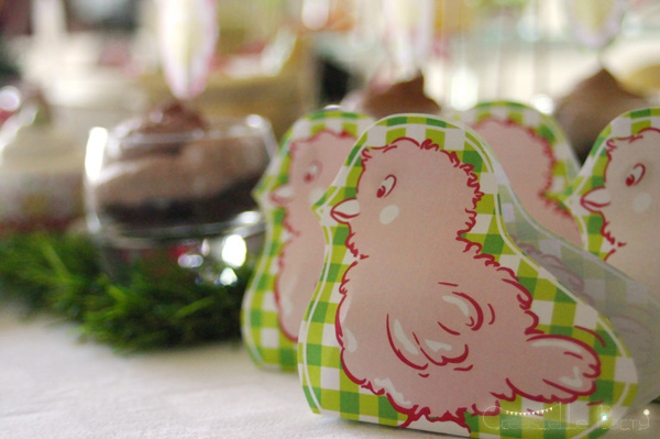 Easter garden party chick gift box