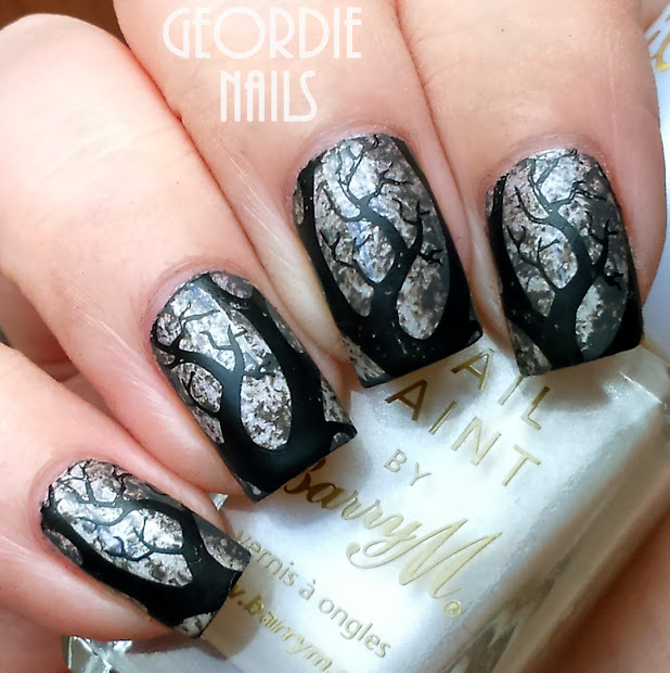 geordie nails creepy tree branches