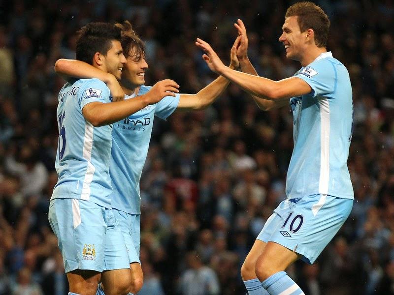 Manchester City Aguero Silva Dzeko