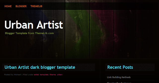 Artistic Blogger Template