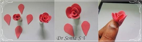 Цветы розы из фоамирана своими руками