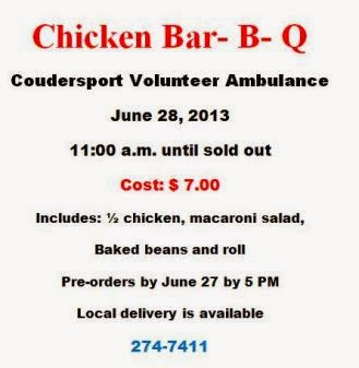 6-28 Chicken BBQ Coudersport