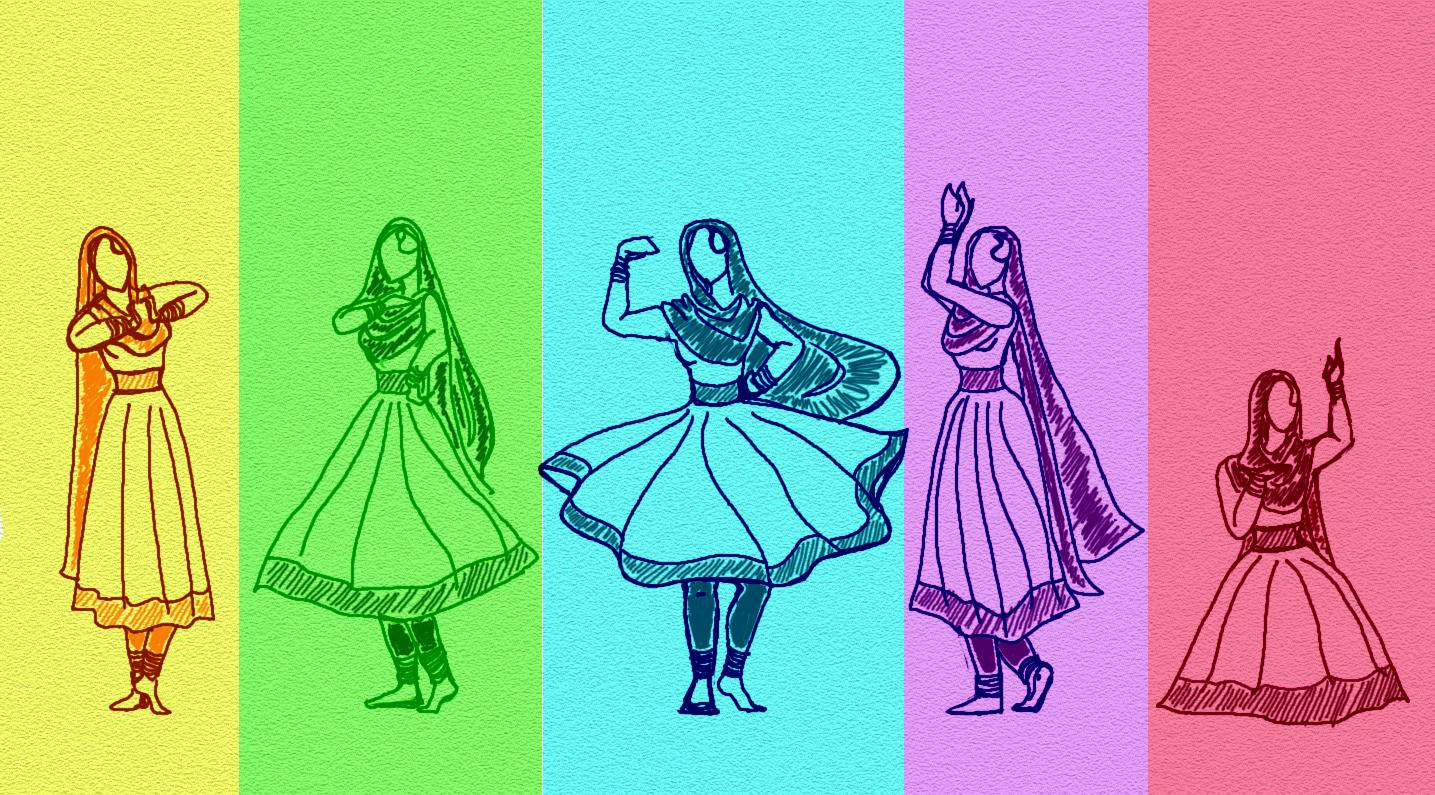 Kathak Dance Drawing Inspiration The Kathak Dance