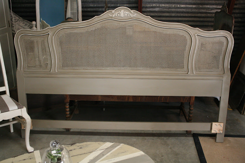 Reloved rubbish vintage cane headboard for Painted on headboard