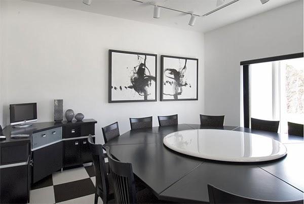 black white furniture. Black White House Kitchen Interior By Electronic Furniture