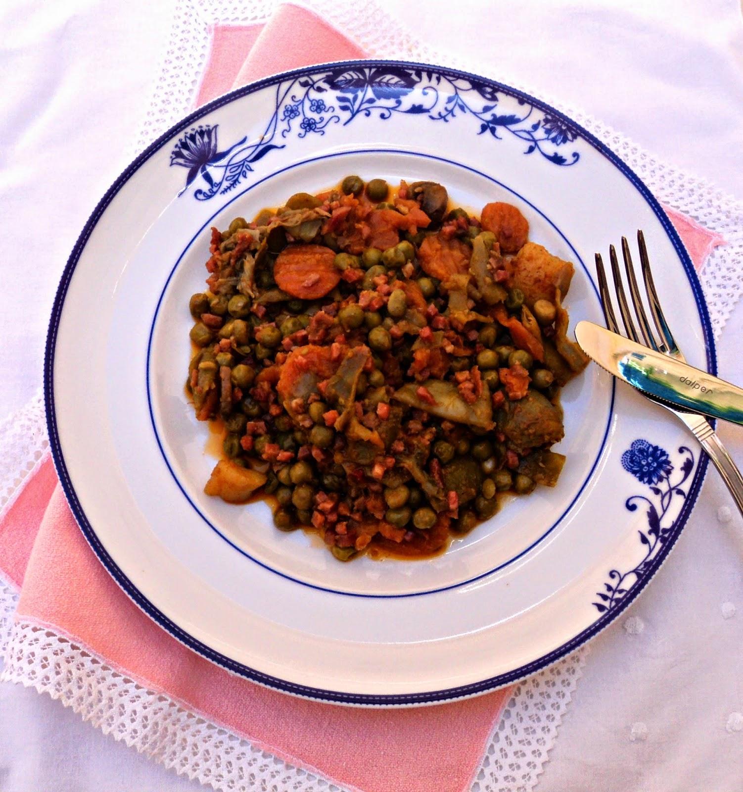 receta casera de menestra verduras al pimentón