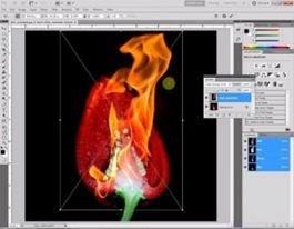 Membuat efek terbakar dengan photoshop