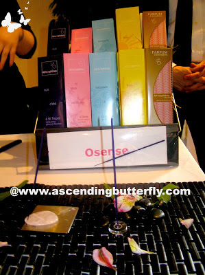Osense Fragrant Sticks Incense on display at Beauty Press Spotlight Day May 2013 at Midtown Loft in New York City