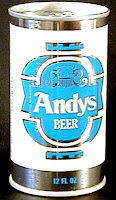 1976 Blue Andy's Beer Can