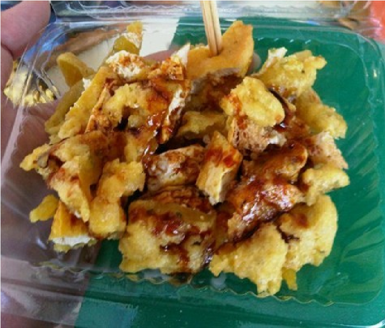 Gambar Tahu Pletok bersama sambalnya