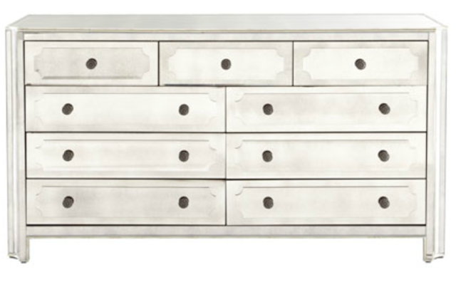 Copy Cat Chic Horchow Logan Large Mirrored Chest