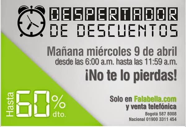 despertador de descuentos falabella 9-4-14