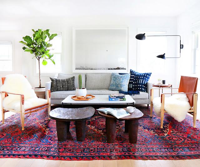Salón con estilo ecléctico