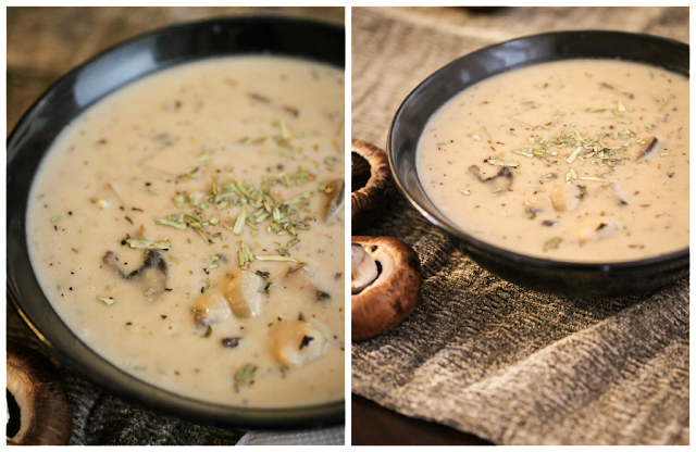 Homemade Cream Of Mushroom Soup Makes About 3 Quarts Ingredients 1 Stick Of Butter 1 2 Cup Olive Oil 6 Cloves Garlic Chopped 1 Tbsp Thyme