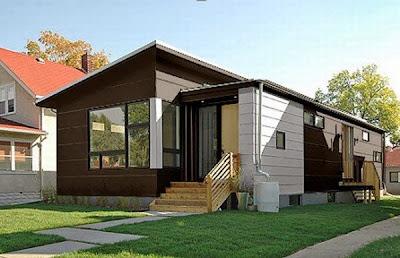 rumah unik minimalis modern