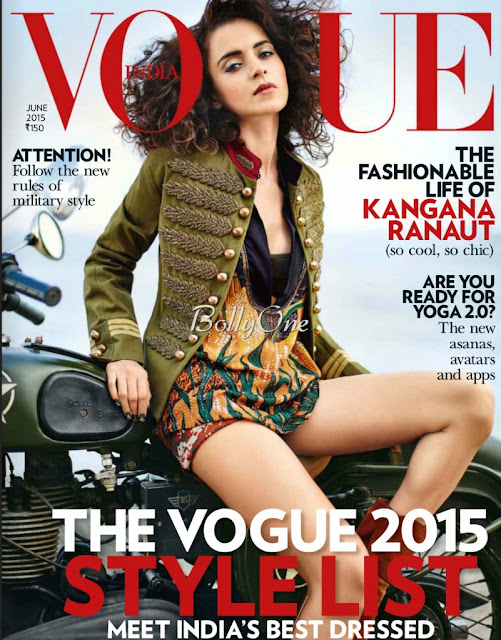 Actress @ Kangana Ranaut - Vogue India, June 2015