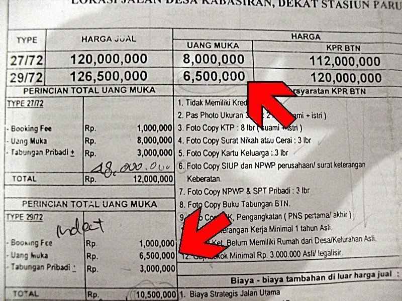 Pengalaman Membeli Rumah Bersubsidi Part 1 Booking Fee Dan