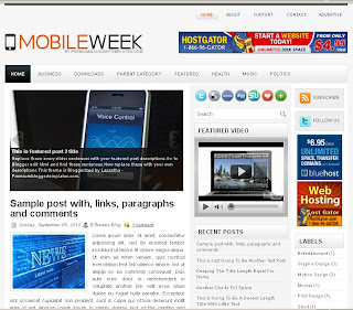 MobileWeek Blogger Template