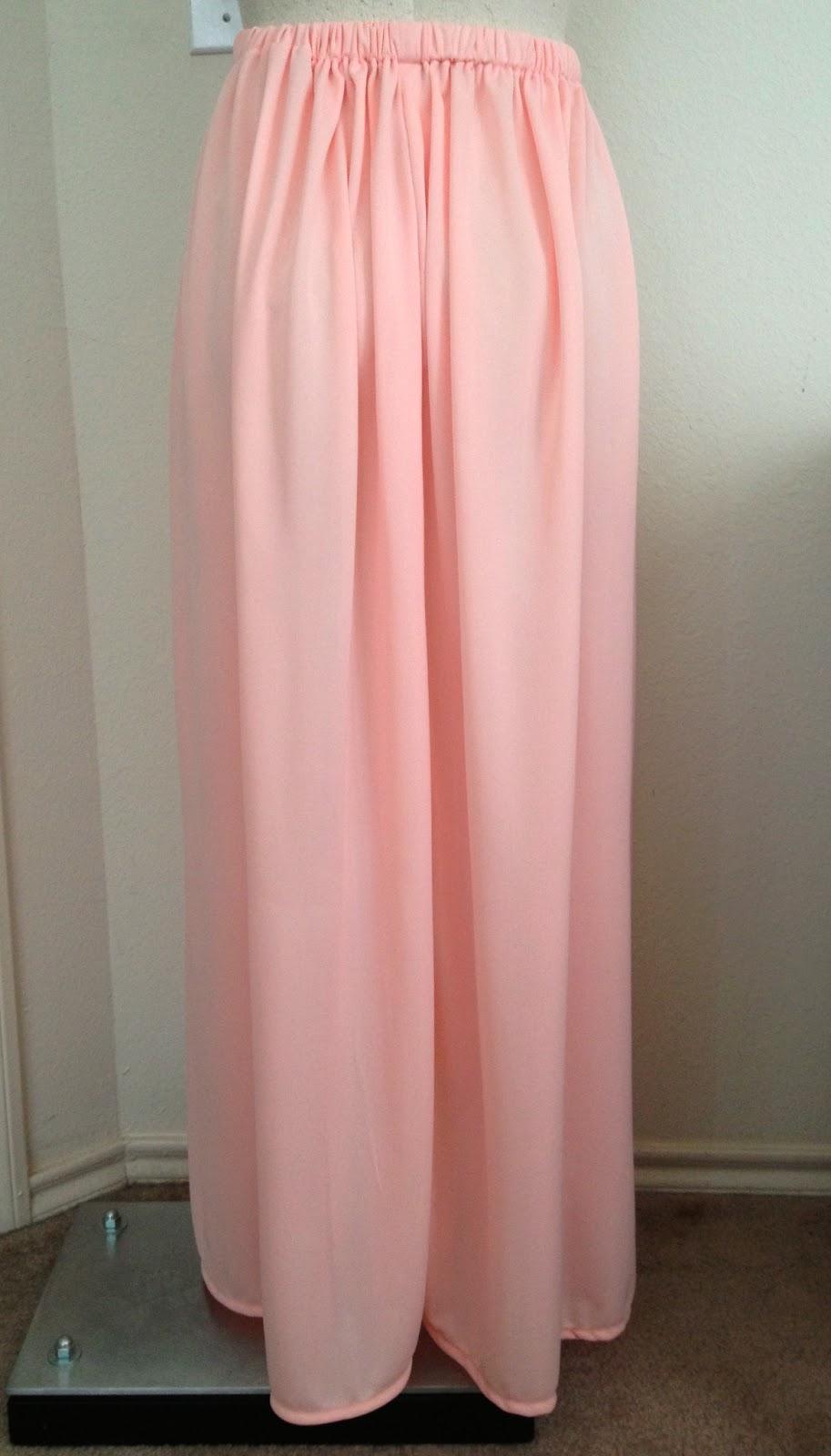 Maxi skirt with elastic waist tutorial best skirt 2017 diy easiest circle skirt ever elastic waistband stretch baditri Choice Image