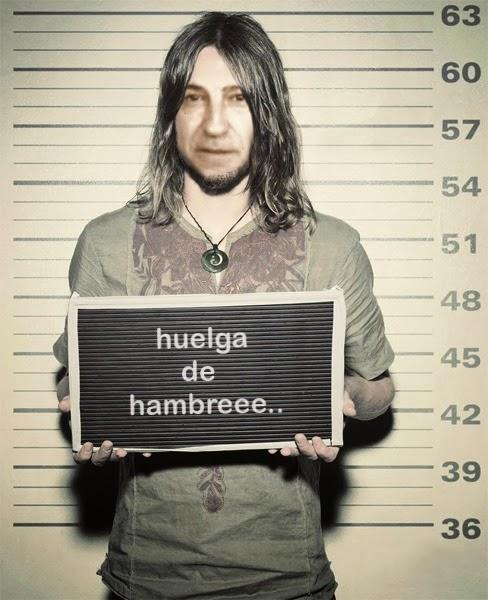 Hippy en huelga por falta de lluvia.