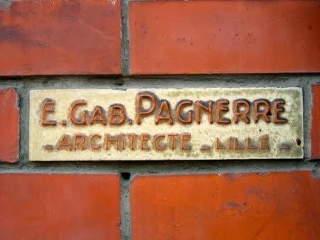 Troisième plaque de l'architecte