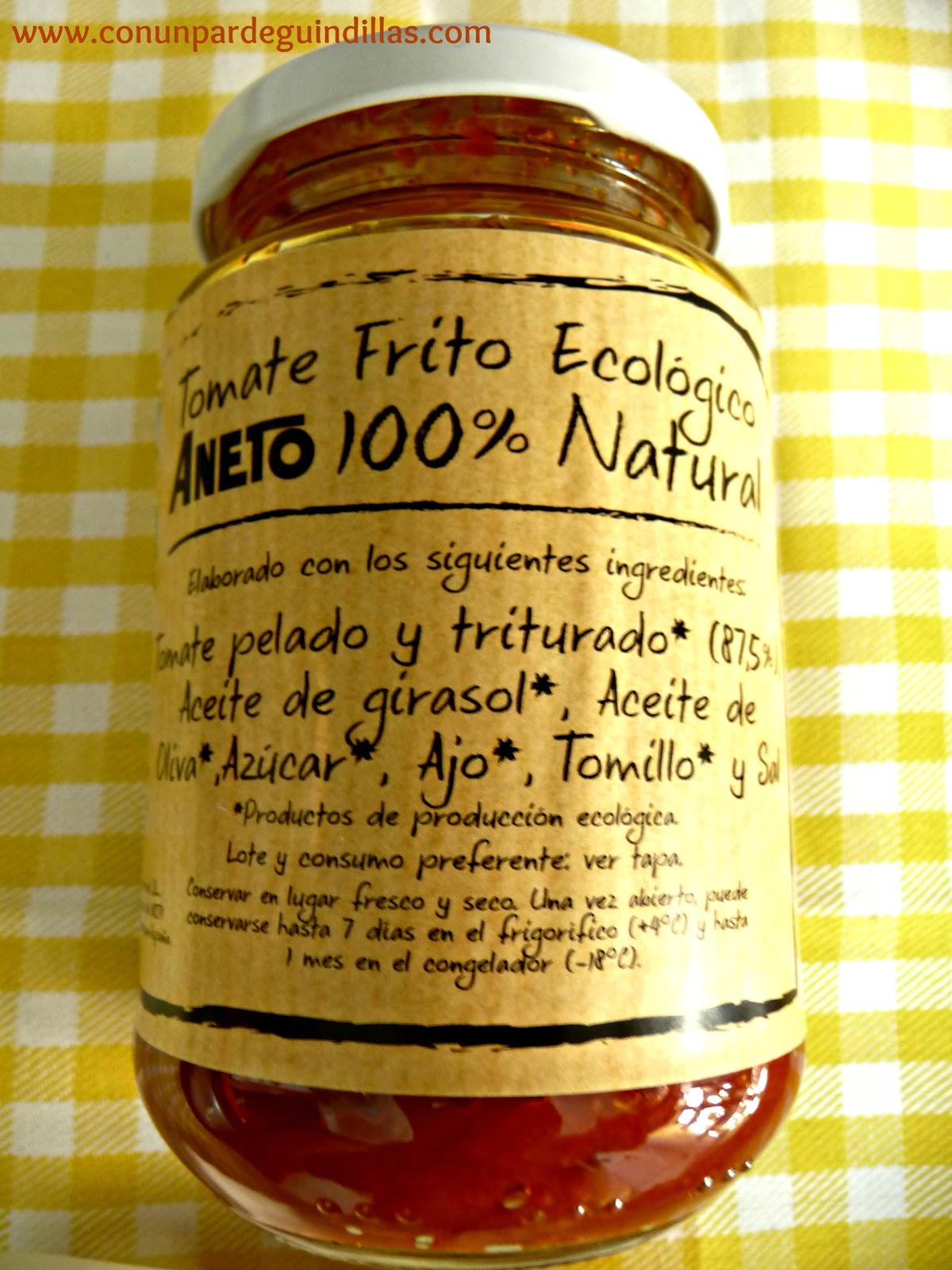 Tomate frito ecológico Aneto 100% Natural
