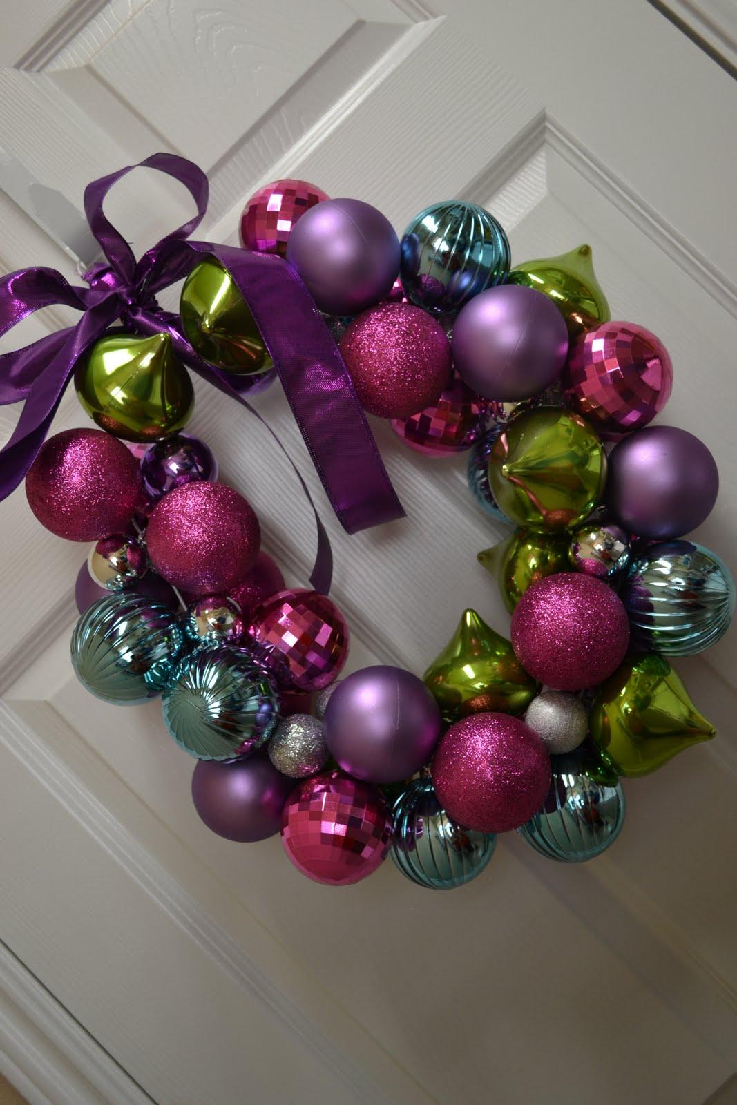 christmas ball wreath craft