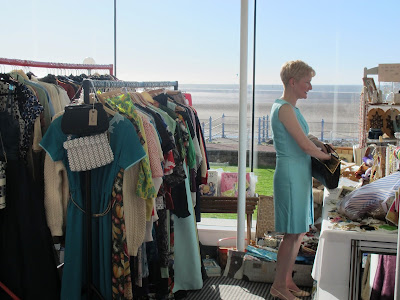 vintage clothing stall