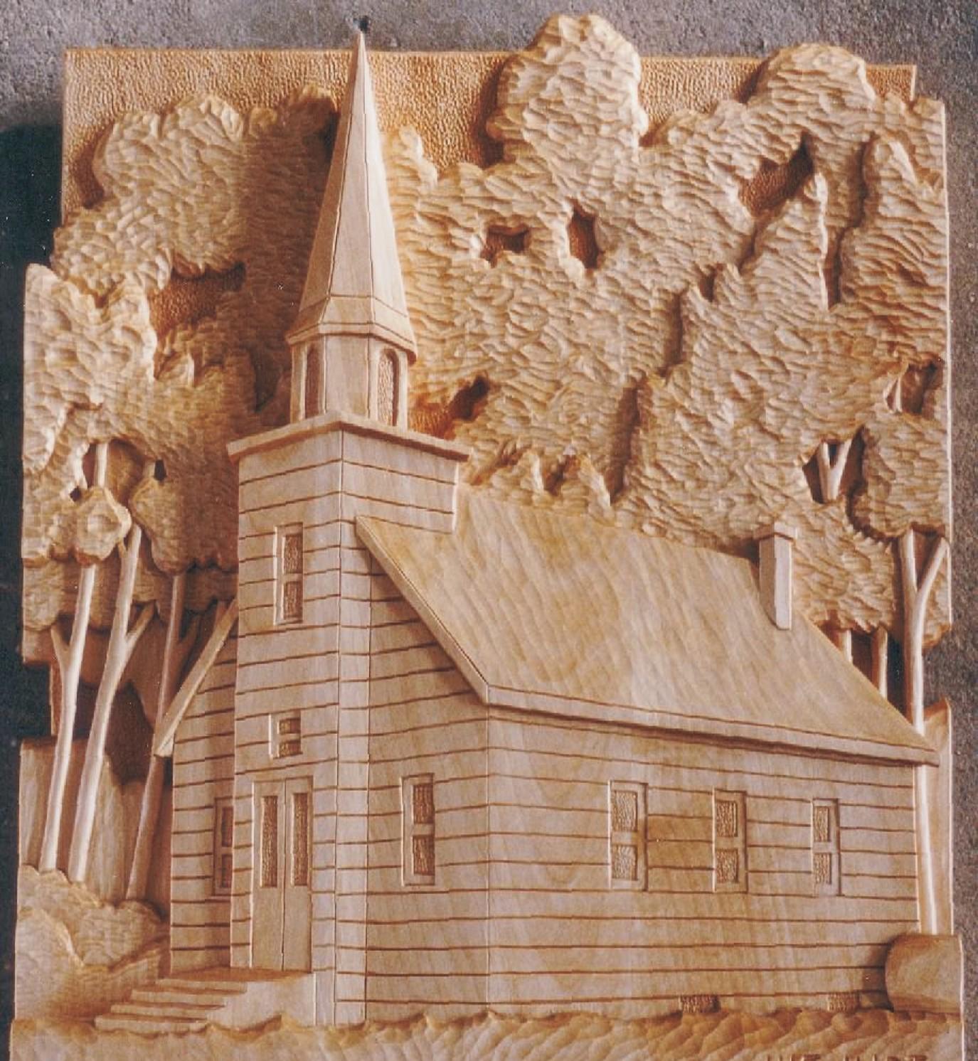 Arte sacro en madera tallado de paisajes fachadas casas instituciones fotos varias - Fotos en madera ...