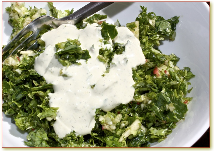 Helyn's Healthy Kitchen: Emerald Micro Salad + Vegan Ranch Dressing