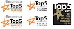 Top5 no Top of Mind Fornecedores de RH na categoria Site para Recrutamento (2006/07/09/10/11)