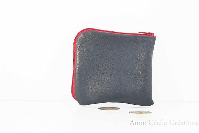porte monnaie mini cuir recyclé