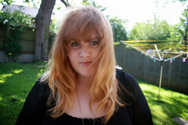 ginger ombre, dyed ginger hair, ginger dip-dye, fashion and beauty blog, Plus size fashion blog