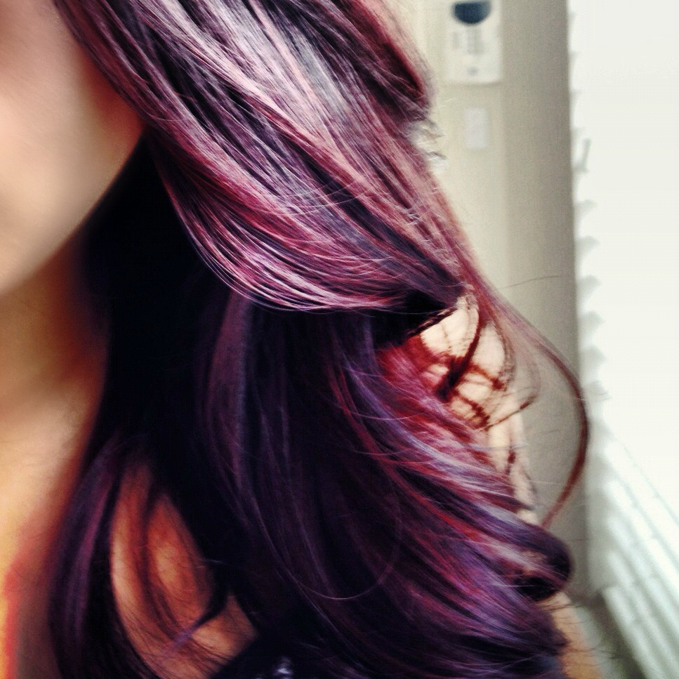 Purple Burgundy Hair Color