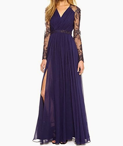 Sleeve Bodycon Evening Party Lace Formal Cocktail Maxi Dress