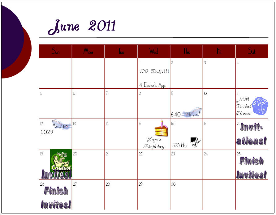 Calendar Craze June : Wouldn t change it for the world may