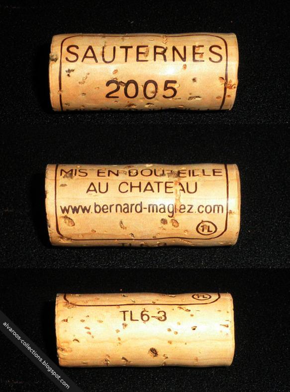 Wine cork: Sauternes, 'TL', TL6-3, 2005