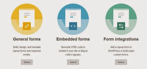 Tipos de formulario