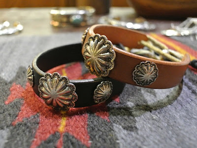 Dear Blossom concho leather bracelet
