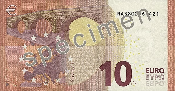Nova nota de 10 Euros New 10 Euro Bank Note