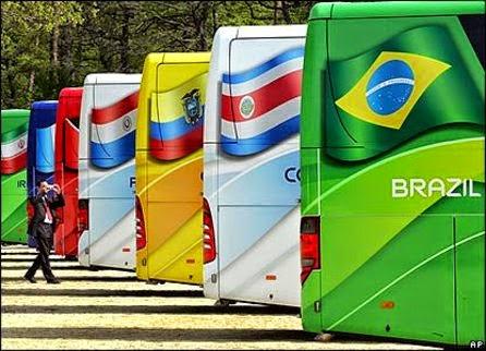 Daftar Semboyan Negara Pada Bus Resmi Piala Dunia 2014