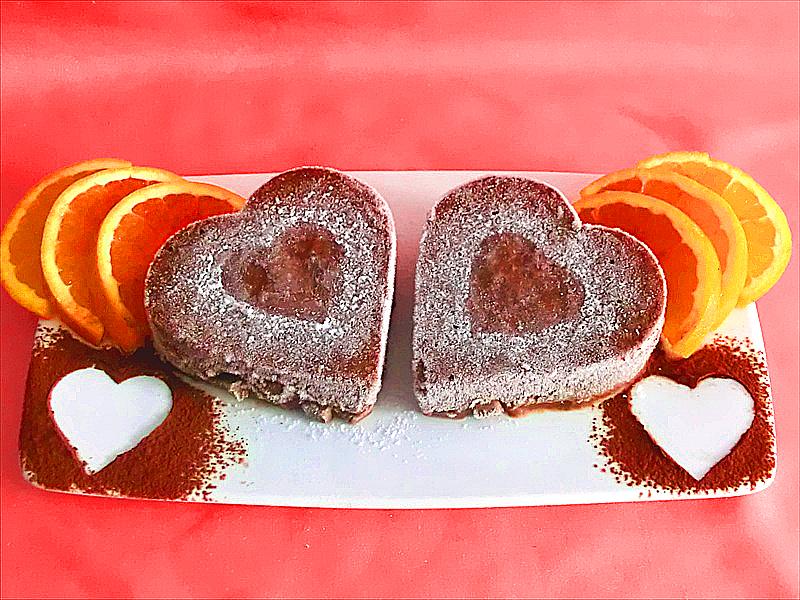 gelato light al cacao,arancia e banana - ricette per san valentino
