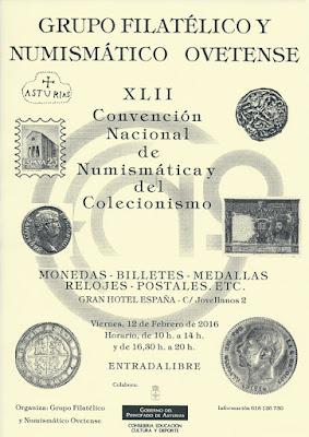 XLII Convención Nacional de Numismática y Coleccionismo Oviedo 2016