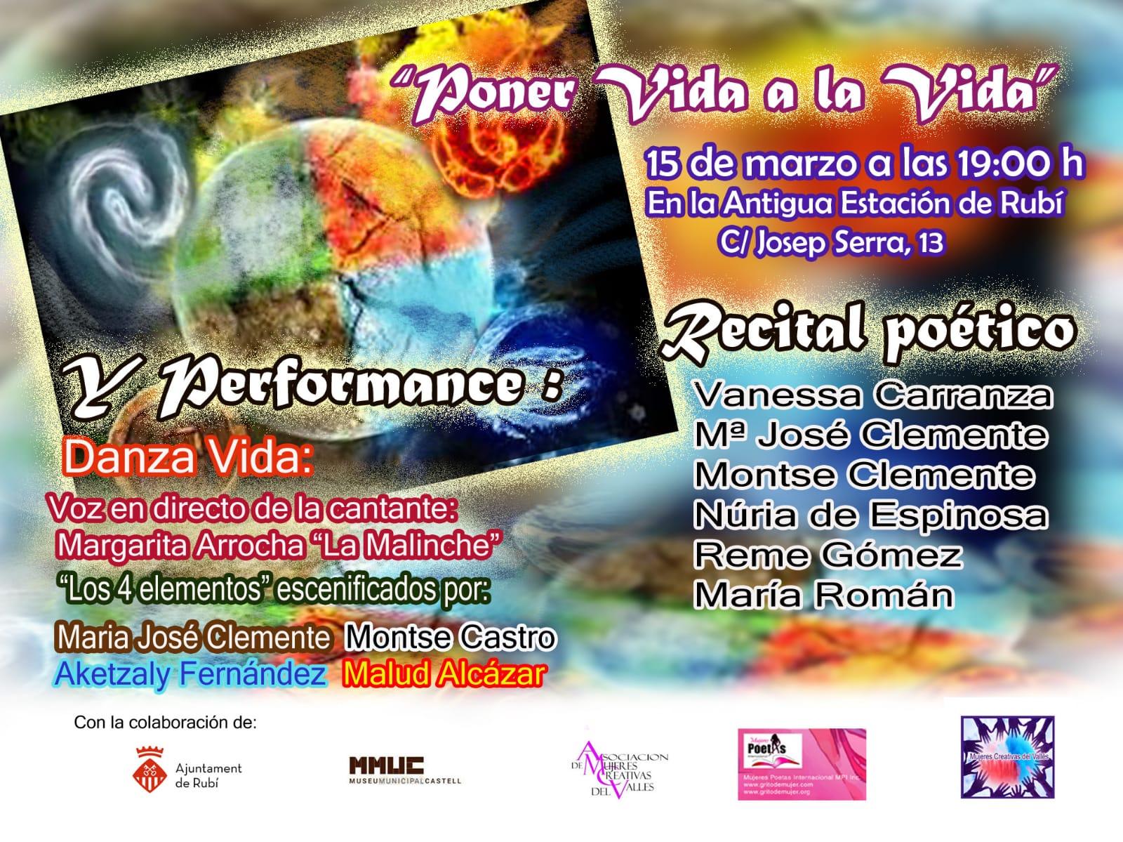 """Cosmo poético musical  """"Vida"""" Sala de Exposiciones"""