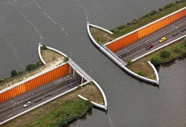 Aqueduct Bridge at Netherlands