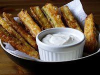 Beer Battered Zucchini with a Vegan Ranch Style Dip