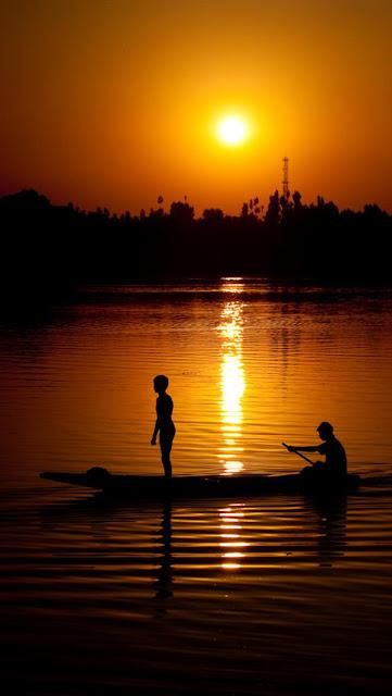 Beautiful Sunset Sea Scenery Hd Wallpaper For Iphone