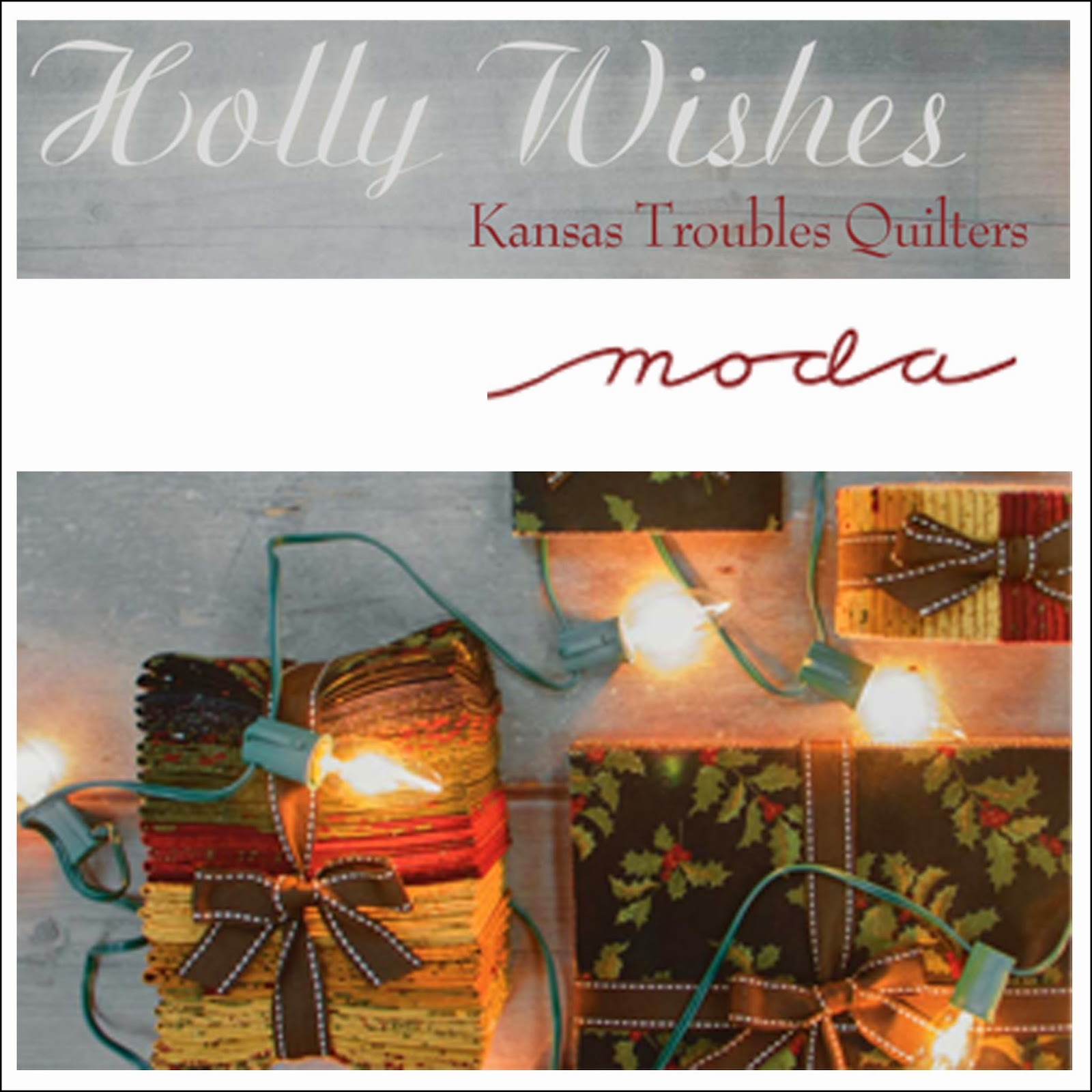 Moda HOLLY WISHES Christmas Quilt Fabric by Kansas Troubles Quilters